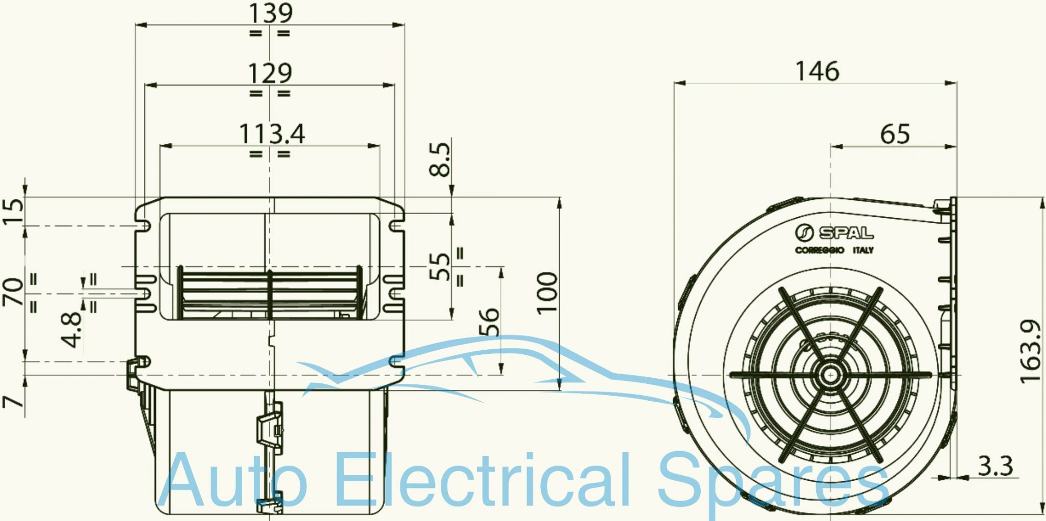 Spal 009 A22 26d A70 74d 12v Centrifugal Blower Heater Fan Enclosure Rotary Switch Wiring Diagram